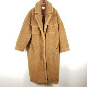 Choosy Womens Brown Faux Fur  Teddy Winter Coat